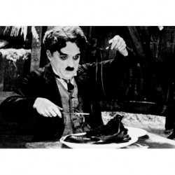 Poster CINEMA MANGIASPAGHETTI Art 05 Charlie Chaplin cm 35x50 Papiarte stampa da falso d'autore