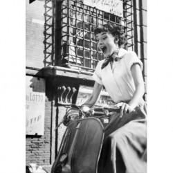 Audrey Hepburn art 01 Poster CINEMA AMERICANO cm 35x50 Papiarte stampa da falso d'autore