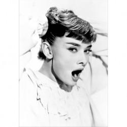 Audrey Hepburn art 02 Poster CINEMA AMERICANO cm 35x50 Papiarte stampa da falso d'autore
