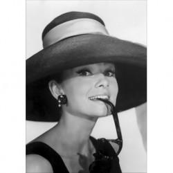 Audrey Hepburn art 06 Poster CINEMA AMERICANO cm 50x70 Papiarte stampa da falso d'autore