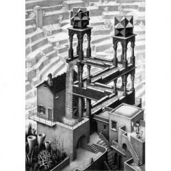 Poster Escher Art 01 cm 35x50 Papiarte stampa da falso d'autore