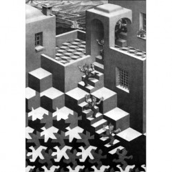 Poster Escher Art 02 cm 35x50 Papiarte stampa da falso d'autore