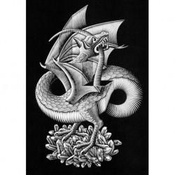 Poster Escher Art 03 cm 70x100 Papiarte stampa da falso d'autore