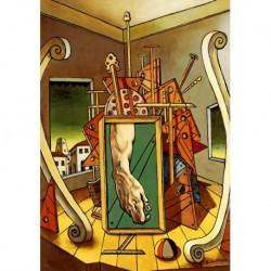 Poster De Chirico Art 03 cm 35x50 Papiarte stampa da falso d'autore