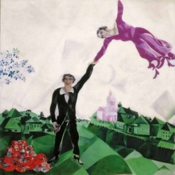 Poster Chagall Art 01 cm 50x50 Papiarte stampa da falso d'autore