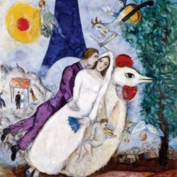 Poster Chagall Art 04 cm 35x35 Papiarte stampa da falso d'autore