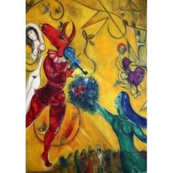 Poster Chagall Art 09 cm 35x50 Papiarte stampa da falso d'autore