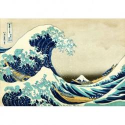Poster Hokusai Art 01 cm 50x70 Papiarte stampa da falso d'autore