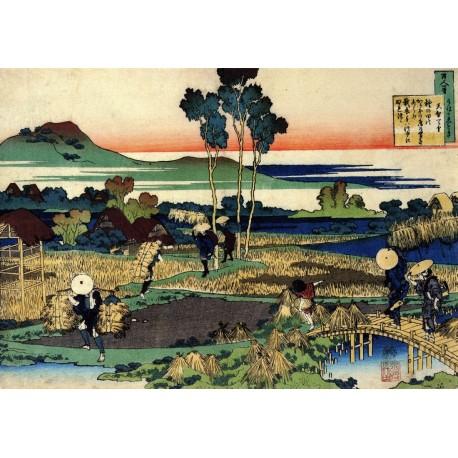 Poster Hokusai Art 05 cm 70x100 Papiarte stampa da falso d'autore