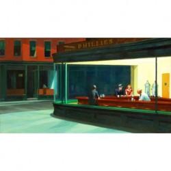 Poster Hopper Art 01 cm 50x70 Papiarte stampa da falso d'autore