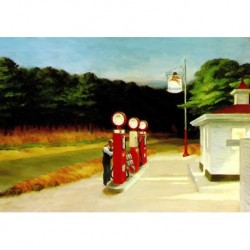 Poster Hopper Art 04 cm 35x50 Papiarte stampa da falso d'autore