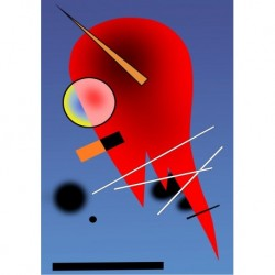 Poster Kandinsky Art 01 cm 70x100 Papiarte stampa da falso d'autore