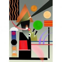 Poster Kandinsky Art 02 cm 50x70 Papiarte stampa da falso d'autore