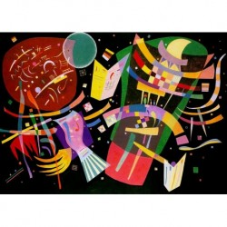 Poster Kandinsky Art 04 cm 35x50 Papiarte stampa da falso d'autore
