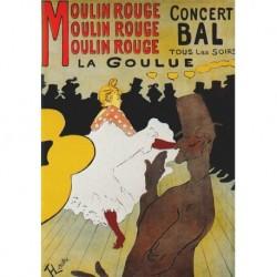 Poster Lautrec Art 01 cm 50x70 Papiarte stampa da falso d'autore