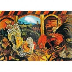 Poster Ligabue Art 03 cm 50x70 Papiarte stampa da falso d'autore