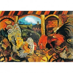Poster Ligabue Art 03 cm 70x100 Papiarte stampa da falso d'autore