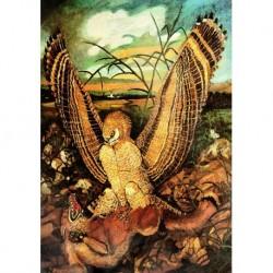 Poster Ligabue Art 04 cm 70x100 Papiarte stampa da falso d'autore