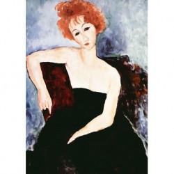 Poster Modigliani Art 01 cm 50x70 Papiarte stampa da falso d'autore