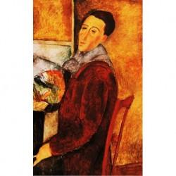 Poster Modigliani Art 04 cm 35x50 Papiarte stampa da falso d'autore