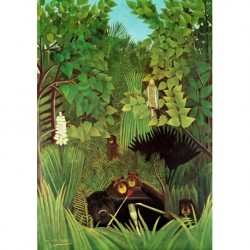 Poster Rousseau Art 04 cm 50x70 Papiarte stampa da falso d'autore