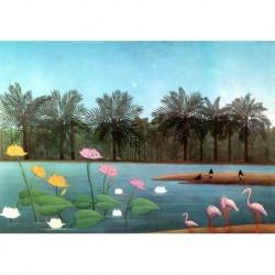 Poster Rousseau Art 08 cm 50x70 Papiarte stampa da falso d'autore