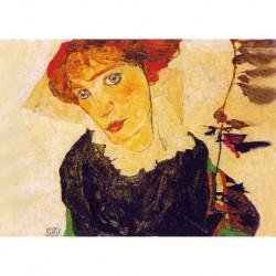 Poster Schiele Art 01 cm 50x70 Papiarte stampa da falso d'autore
