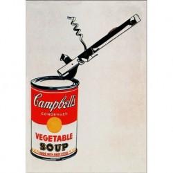 Poster Warhol Art 01 cm 70x100 Papiarte stampa da falso d'autore