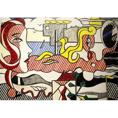 Poster Lichtenstein Art. 03 cm 70x100 Stampa Falsi d'Autore Affiche Plakat Fine Art