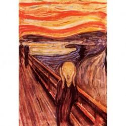 Tela Munch Art 01 cm 50x70 Spedizione Gratis Papiarte Stampa su tela Canvas da falso d'autore