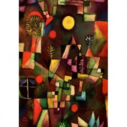 Poster Klee Art 03 cm 50x70 Papiarte stampa da falso d'autore