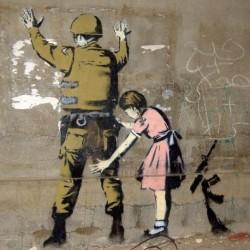 Poster Banksy Art 03 cm 35x35 Papiarte stampa da falso d'autore