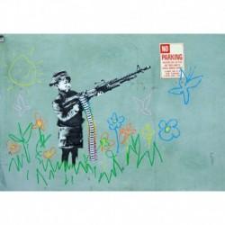 Tela Banksy Art 02 cm 35x50 Papiarte Stampa su tela Canvas da falso d'autore