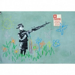 Tela Banksy Art 02 cm 70x100 Papiarte Stampa su tela Canvas da falso d'autore