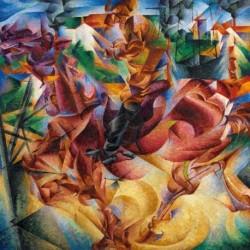 Tela Boccioni Art 01 cm 35x35 Papiarte Stampa su tela Canvas da falso d'autore