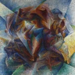 Tela Boccioni Art 04 cm 35x35 Papiarte Stampa su tela Canvas da falso d'autore
