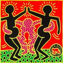 Tela Haring Art 03 cm 35x35 Papiarte Stampa su tela Canvas da falso d'autore