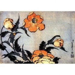 Tela Hokusai Art 04 cm 35x50 Papiarte Stampa su tela Canvas da falso d'autore