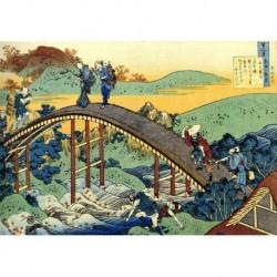 Tela Hokusai Art 06 cm 50x70 Papiarte Stampa su tela Canvas da falso d'autore
