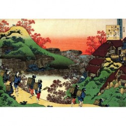 Tela Hokusai Art 07 cm 50x70 Papiarte Stampa su tela Canvas da falso d'autore