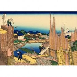 Tela Hokusai Art 09 cm 50x70 Papiarte Stampa su tela Canvas da falso d'autore