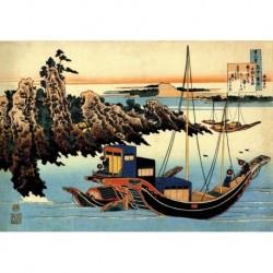 Tela Hokusai Art 10 cm 50x70 Papiarte Stampa su tela Canvas da falso d'autore