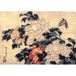 Tela Hokusai Art 11 cm 50x70 Papiarte Stampa su tela Canvas da falso d'autore