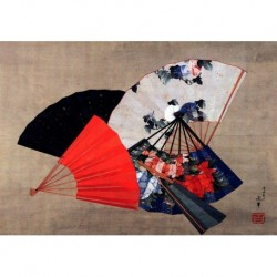 Tela Hokusai Art 12 cm 70x100 Papiarte Stampa su tela Canvas da falso d'autore