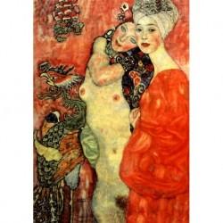 Tela Klimt Art 01 cm 50x70 Papiarte Stampa su tela Canvas da falso d'autore