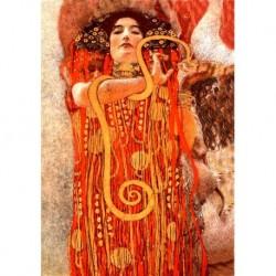Tela Klimt Art 09 cm 50x70 Papiarte Stampa su tela Canvas da falso d'autore