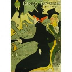Tela Lautrec Art 02 cm 50x70 Papiarte Stampa su tela Canvas da falso d'autore