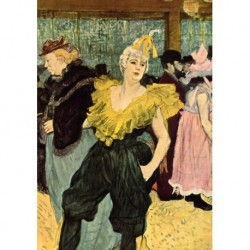Tela Lautrec Art 03 cm 50x70 Papiarte Stampa su tela Canvas da falso d'autore
