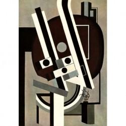 Tela Leger Art 02 cm 35x50 Papiarte Stampa su tela Canvas da falso d'autore