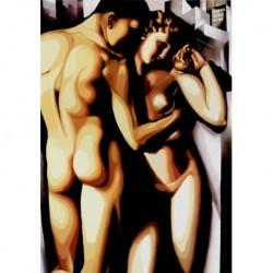 Tela Lempicka Art 01 cm 50x70 Papiarte Stampa su tela Canvas da falso d'autore